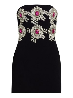 David Koma jewel embellished strapless mini dress