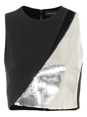 David Koma Sequined cady crop top