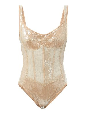 David Koma sequinned corset bodysuit
