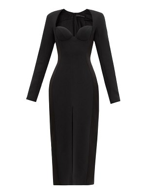 David Koma sweetheart-neckline cady dress