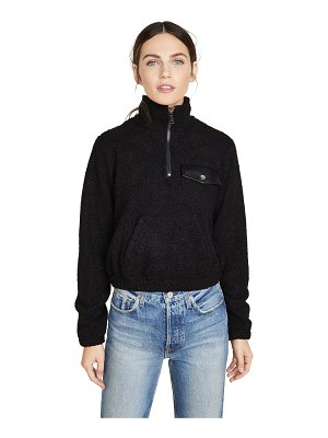 David Lerner andi half zip mock neck pullover