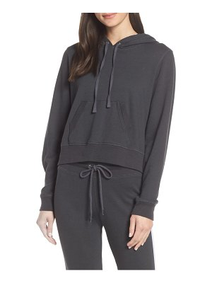 David Lerner back zip crop hoodie