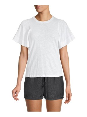 David Lerner Candice Flutter-Sleeve T-Shirt