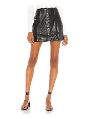David Lerner piper a line snap front skirt