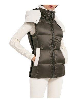 Dawn Levy Evelynn Hooded Vest with Shearling Accents