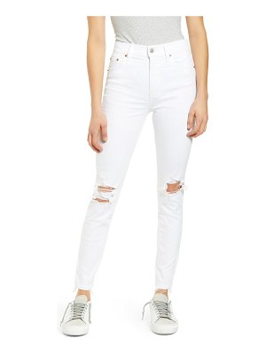 DAZE call you back ripped high waist ankle skinny jeans