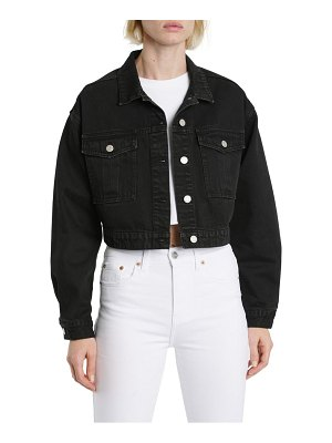 DAZE legend crop denim jacket