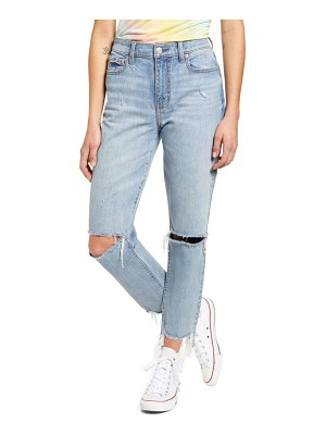 DAZE straight up ripped ankle skinny jeans