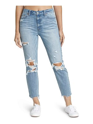 DAZE the original ripped high waist straight leg jeans