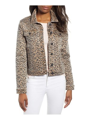 DEAR JOHN DENIM animal print denim jacket