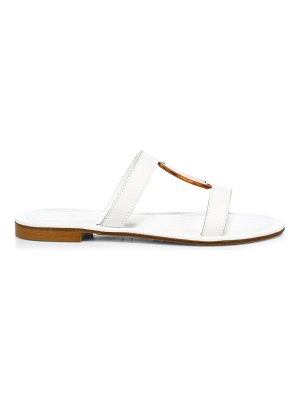 Definery bar flat leather sandals