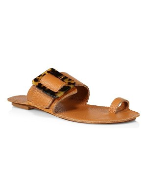 Definery loop toe-ring leather flat sandals
