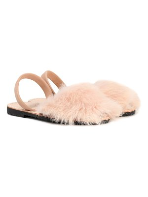 DEL RIO LONDON classic fur and suede sandals