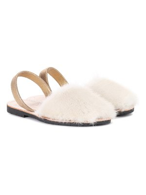 DEL RIO LONDON classic fur sandals