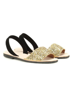 DEL RIO LONDON glitter and suede sandals