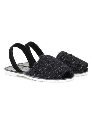 DEL RIO LONDON wool and suede sandals