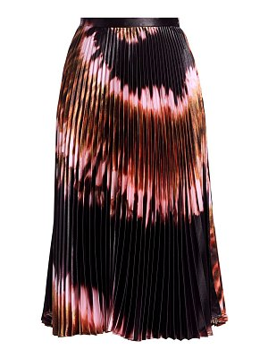 Delfi Collective clara tie-dye polyester pleated skirt