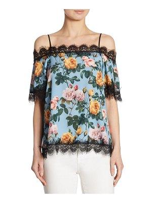 Delfi Collective Lucy Lace-Trim Cold-Shoulder Top