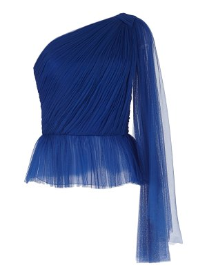 Delpozo draped tulle top