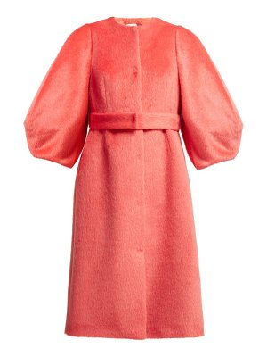 Delpozo Single Breasted Wool Coat