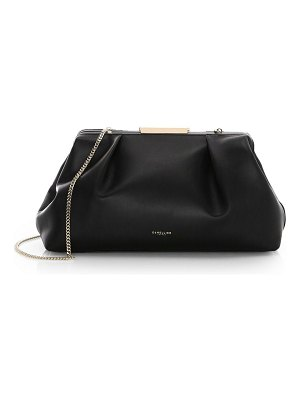 DEMELLIER florence leather clutch