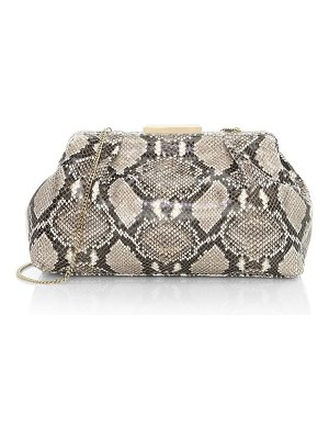 DEMELLIER florence snakeskin-embossed leather clutch