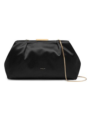 DEMELLIER maxi florence satin clutch