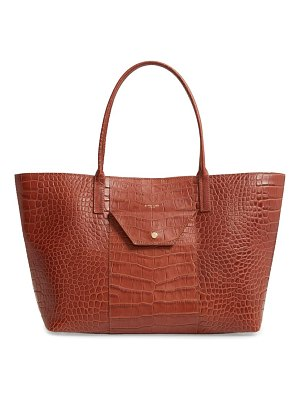 DEMELLIER miami croc embossed leather tote