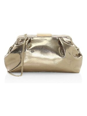 DEMELLIER mini florence metallic leather clutch