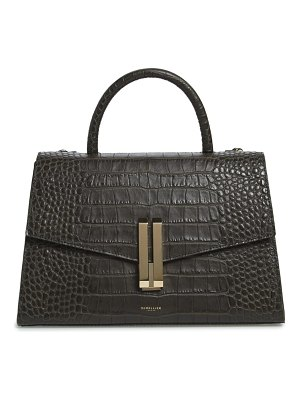 DEMELLIER montreal croc embossed leather top handle bag