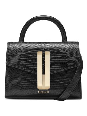 DEMELLIER nano montreal lizard-embossed leather satchel