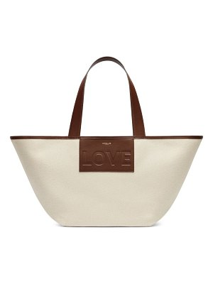 DEMELLIER the love leather & organic cotton tote