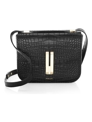 DEMELLIER vancouver croc-embossed leather crossbody bag