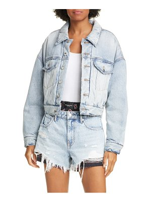 Denim x Alexander Wang padded denim trucker jacket
