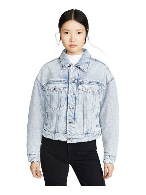 Denim x Alexander Wang padded trucker jacket