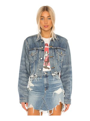 Denimist cropped agnes trucker jacket. - size l (also