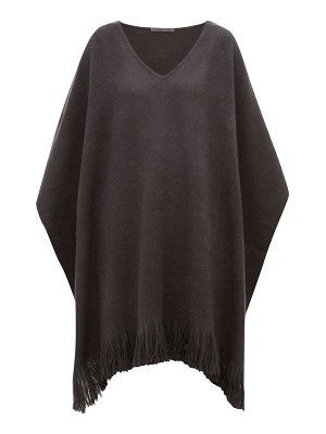 Denis Colomb fringed cashmere poncho