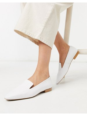 DEPP soft leather flat shoe in white