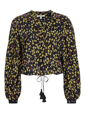 DEREK LAM 10 CROSBY aster mixed floral blouse