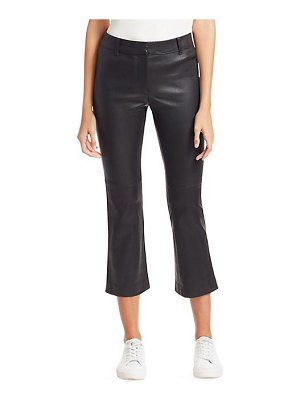 DEREK LAM 10 CROSBY cropped leather flare pants