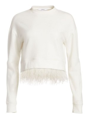 DEREK LAM 10 CROSBY feather-hem sweatshirt