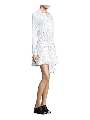 DEREK LAM 10 CROSBY Fil Coupe Tie Front Shirtdress
