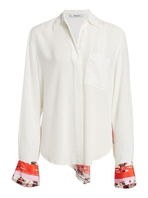 DEREK LAM 10 CROSBY floral panel blouse