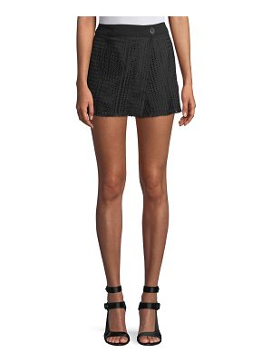 DEREK LAM 10 CROSBY Lace Shorts