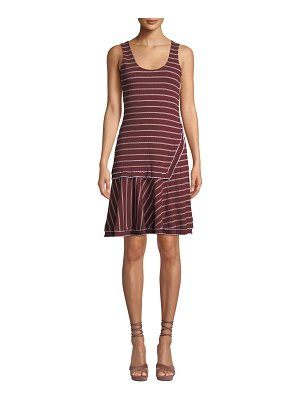 DEREK LAM 10 CROSBY Layered Scoop-Neck Tank Dress