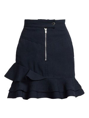 DEREK LAM 10 CROSBY ruffle-hem mini skirt