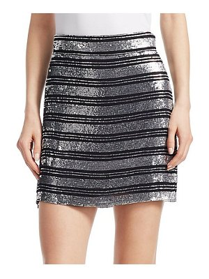 DEREK LAM 10 CROSBY sequin stripe mini skirt
