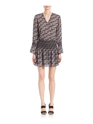 DEREK LAM 10 CROSBY Smocked Silk Dress