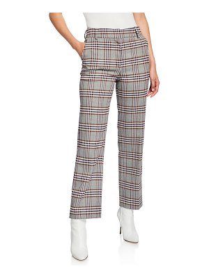 DEREK LAM 10 CROSBY Straight-Leg Check Trousers