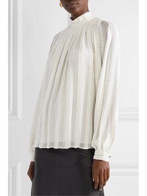 Derek Lam embroidered cotton and silk-blend georgette blouse